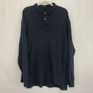 Polo by Ralph Lauren Blue Long Sleeve Polo Shirt M